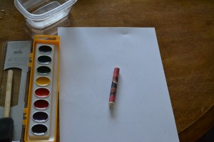 Supplies needed for Water Color